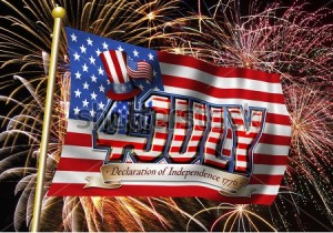 stock-photo--th-july-graphic-on-a-stars-and-stripes-flag-with-a-fireworks-background-77527357